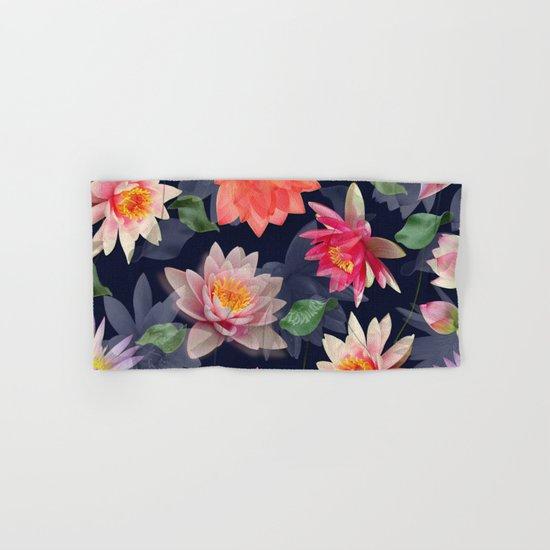 Lotus Flower Pattern #2 Hand & Bath Towel
