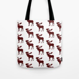 Buffalo Check Moose Tote Bag