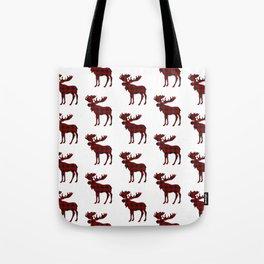 Buffalo Check Moose Tote Bag
