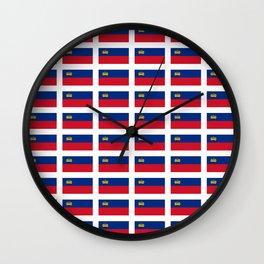 Flag of liechenstein -Liechtensteiner,liechtensteinerisch,vaduz,schaan,german Wall Clock