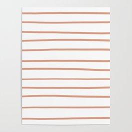 Pratt and Lambert Earthen Trail 4-26 Hand Drawn Horizontal Lines on Pure White Poster