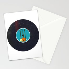 Vinyl Record Mid-Century Modern Music Instruments Stationery Cards