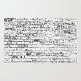 Withe brick wall Rug