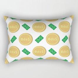 Barbados's Barbadian dollar Bsd$ code BBD banknote and coin pattern wallpaper Rectangular Pillow