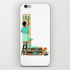 L as Libraire (Bookseller) iPhone & iPod Skin