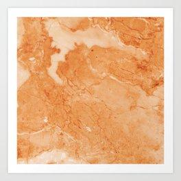 Brown & Beige Marble Art Print