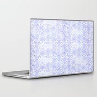 damask Laptop & iPad Skins featuring Periwinkle Damask by Simply Chic