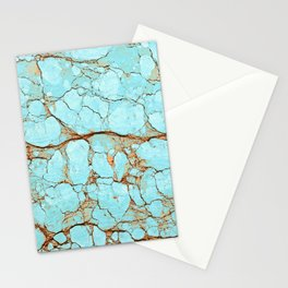 Cracked Turquoise & Rust Stationery Cards