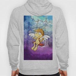 Angel boy on a swing Hoody
