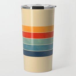 retro stripes Travel Mug