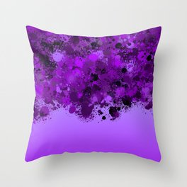 paint splatter on gradient pattern dp Throw Pillow