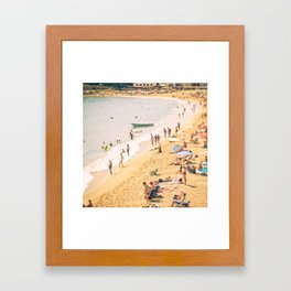 On the beach #5 Framed Art Print