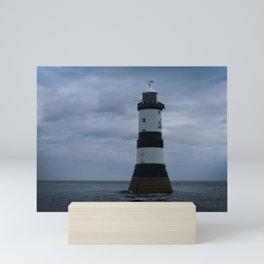 Trwyn Du Lighthouse Mini Art Print