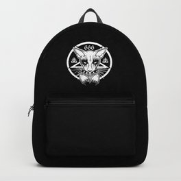 Black Metal Cat Backpack