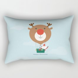 Day 13/25 Advent - Air Rudolph Rectangular Pillow