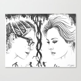 Orphan Black - Cophine Ink Wash Canvas Print