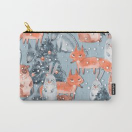Christmas pattern with cute animals Carry-All Pouch
