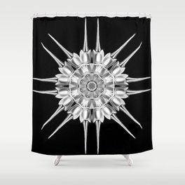 Ninja Star 11 Shower Curtain