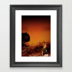 Forgotten sunrise Framed Art Print