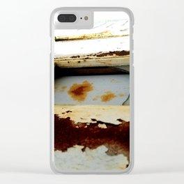 A Little Bit Rusty Clear iPhone Case