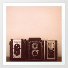 Three Cameras Art Print