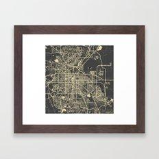 Denver map Framed Art Print