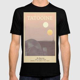Retro Travel Poster Series - Star Wars - Tatooine T-shirt