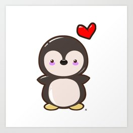 Penguin Kawaii Art Print
