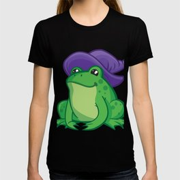 Cartoon Frog Wizard T-shirt