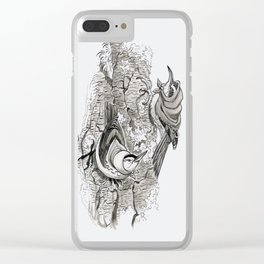 The Two Old Hens Clear iPhone Case