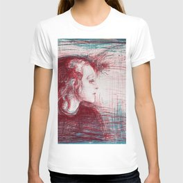 12,000pixel-500dpi - Edvard Munch - The sick child - Digital Remastered Edition T-shirt