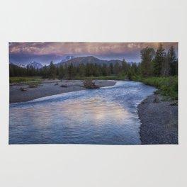 Morning on the Snake River - Grand Teton national Park Rug