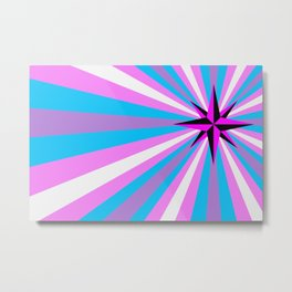 Queer Trans Anarchy Flag Metal Print