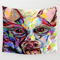 german Wall Tapestries featuring German Shepherd by EloiseArt