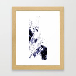 Indigo, black & white abstract I Framed Art Print