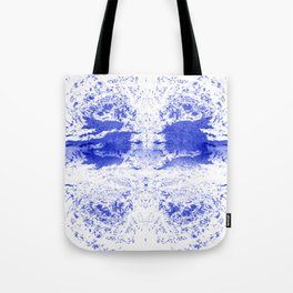 Deep Ocean Blue with White Caps Tote Bag