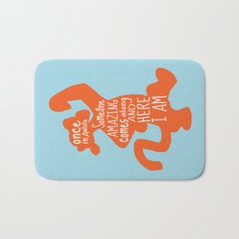 Once in awhile Someone Amazing comes along and Here I Am - Winnie the Pooh inspired Print Bath Mat