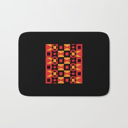 African Motif Mosaic Game Bath Mat