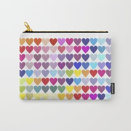 Rainbow Hearts Carry-All Pouch