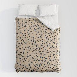 beige dalmatian print Comforters