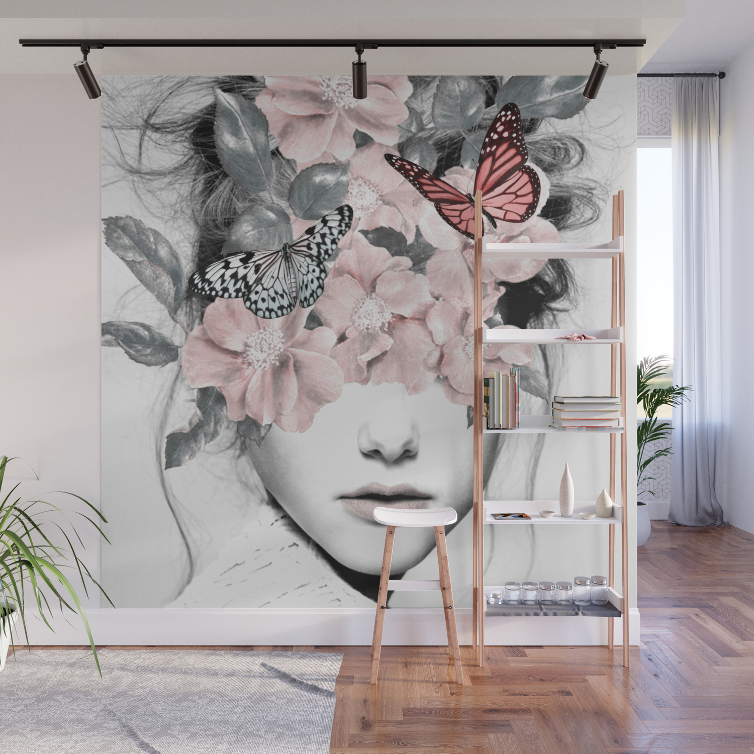 Woman With Flowers 10 Wall Mural By Dada22 Society6