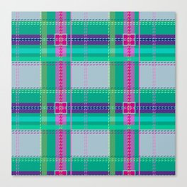 Ugh Plaid Canvas Print