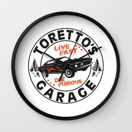 Fast & Furious - Toretto's Garage Wall Clock