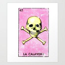 La Calavera Mexican Loteria Bingo Card Art Print