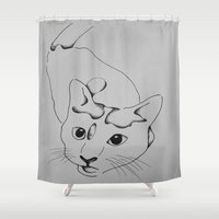 harley Shower Curtains featuring Harley by seekmynebula