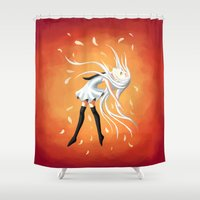 swan Shower Curtains featuring Swan by Freeminds