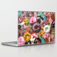donuts Laptop & iPad Skins featuring Donuts by Tina Mooney