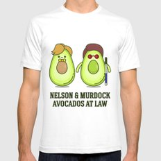 Avocados at law  White SMALL Mens Fitted Tee