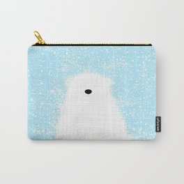 Its A Polar Bear Blinking In A Blizzard - Blue Carry-All Pouch