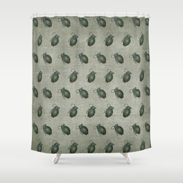 Army Green Hand Grenades Shower Curtain